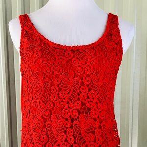 Attention women's Tank top Red made in Turkey L